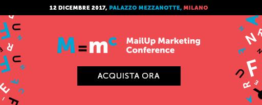 MailUp Marketing Conference - 12 dicembre 2017 - Palazzo Mezzanotte, Milano