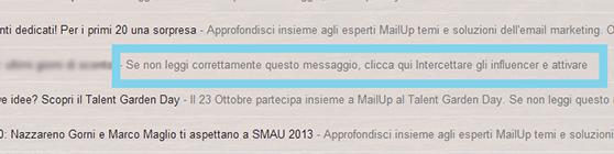 Intestazione - su Gmail