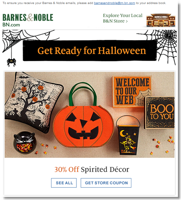 Newsletter Halloween - Barnes and Noble