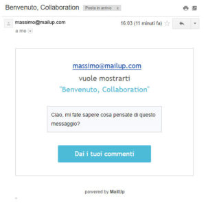 Email d'invito Collaboration MailUp 9