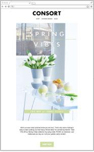 Email primavera verde