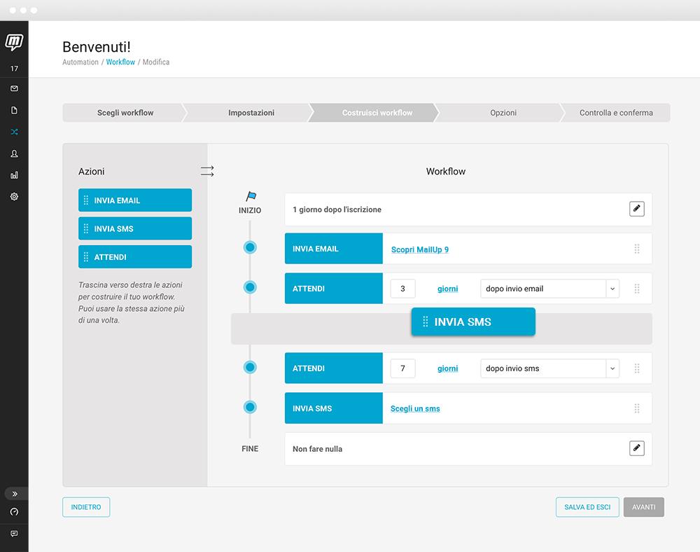 I nuovi workflow di MailUp 9.