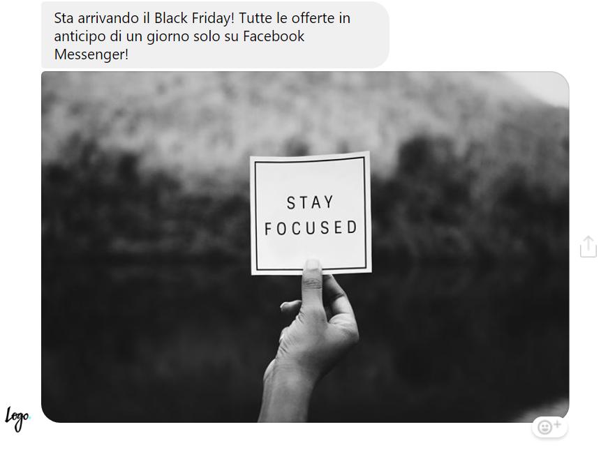 Un esempio di campagna teaser su Messaging