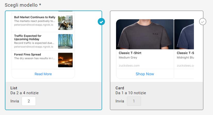 La scelta del modello per le campagne Messsaging Apps
