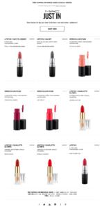 L'email di MAC Cosmetics