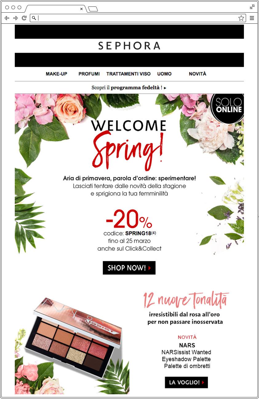Email primavera Sephora