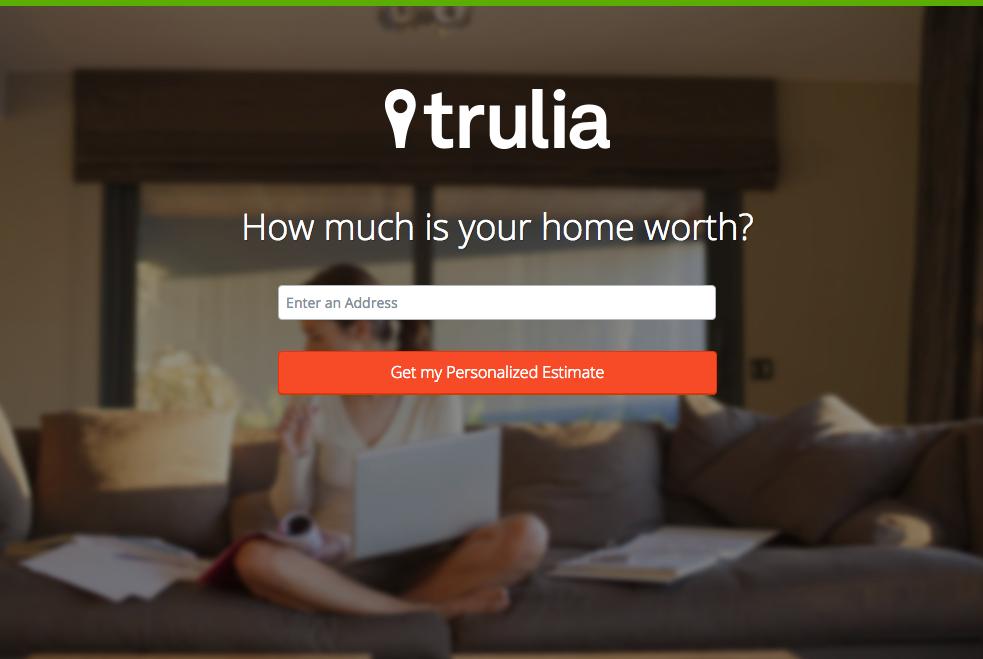 La landing page di Trulia