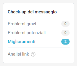 Il check-up del messaggio