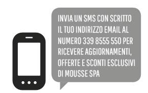 Un SMS inbound per ricevere gli aggiornamenti.