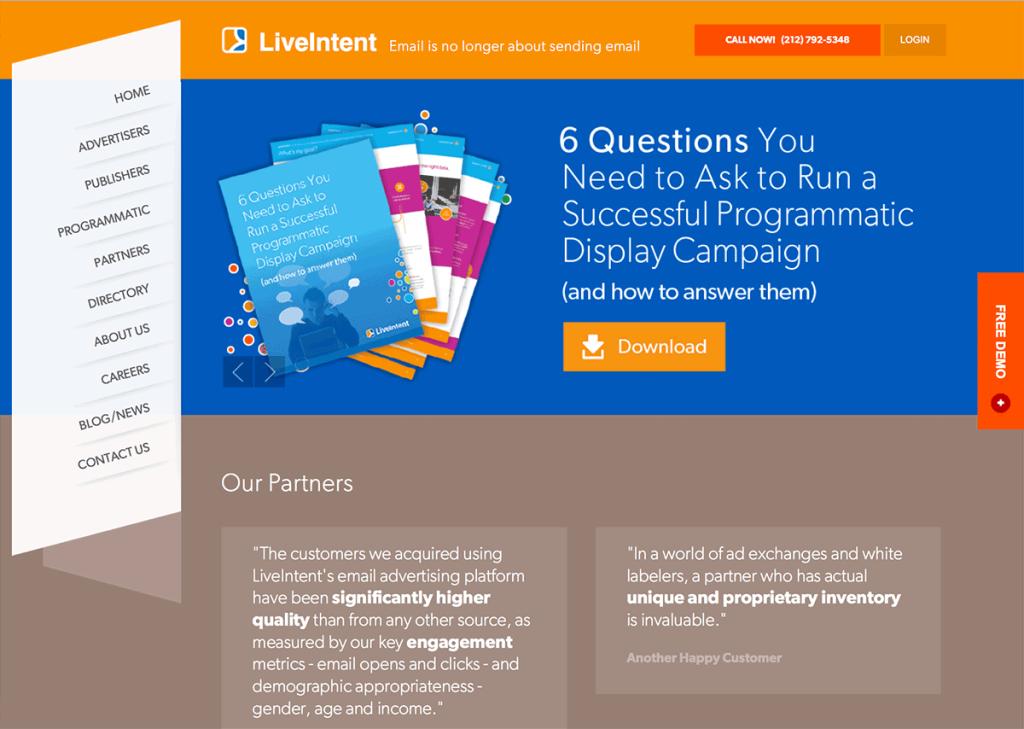 liveintent strumenti email marketing mailup