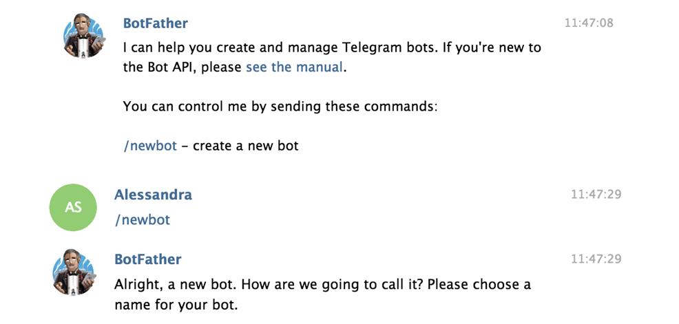 Come ottenere il token da Telegram
