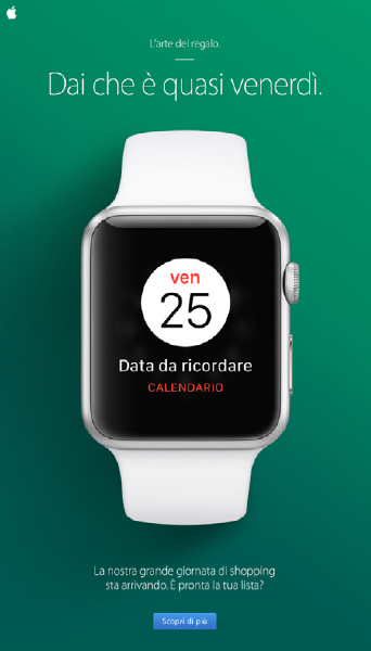 L'email di Apple per il black friday