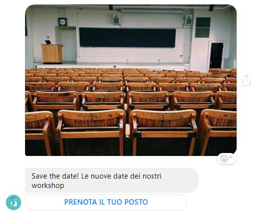 save the date le nuove dati dei nostri workshop
