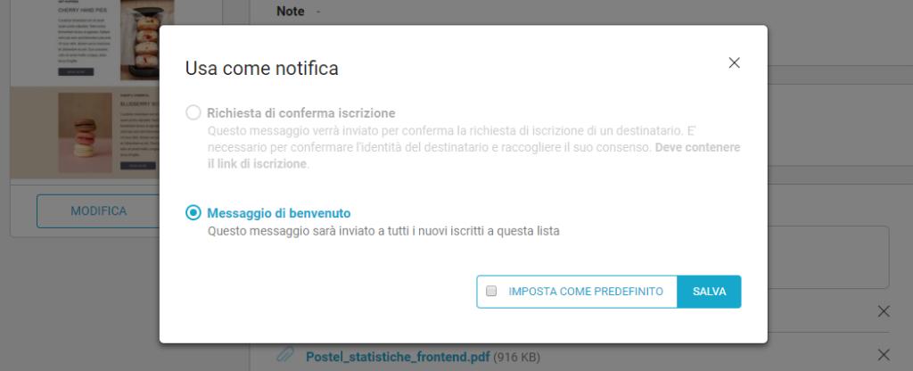 Gestire proprietà del messaggio di notifica