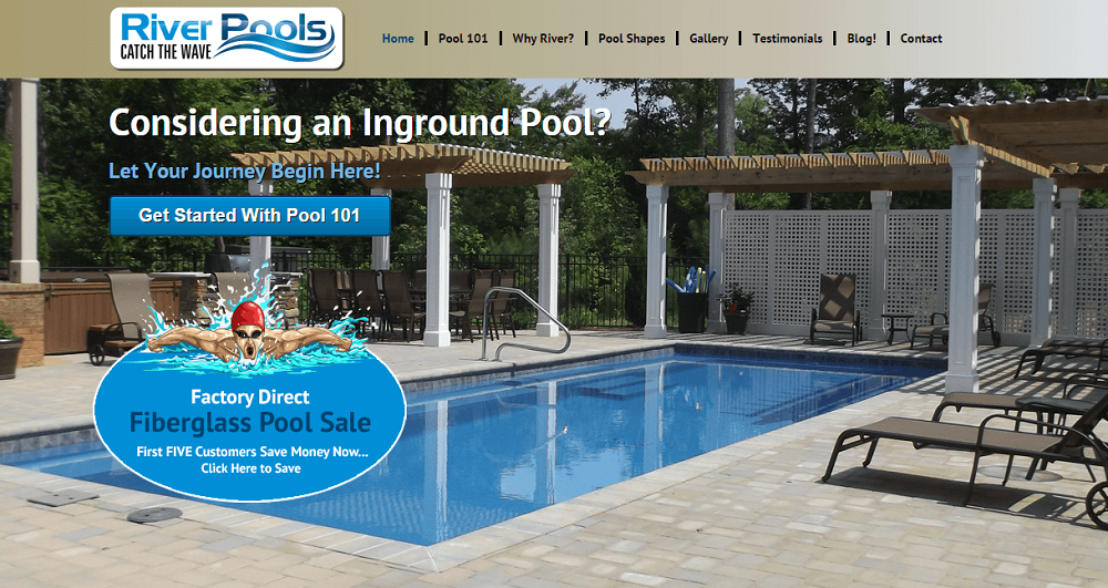 La hompage di River Pools