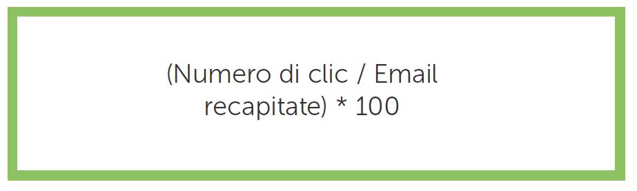 La formula per calcolare il CTR