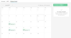 Il calendario degli invii di MailUp