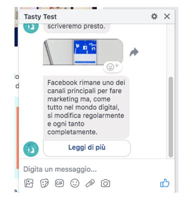 Come appare il messaggio agli utenti