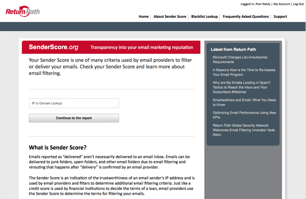 senderscore strumenti email marketing mailup