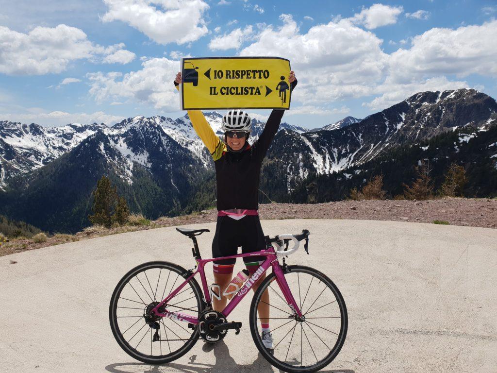 Paola Gianotti iniziativa io rispetto il ciclista