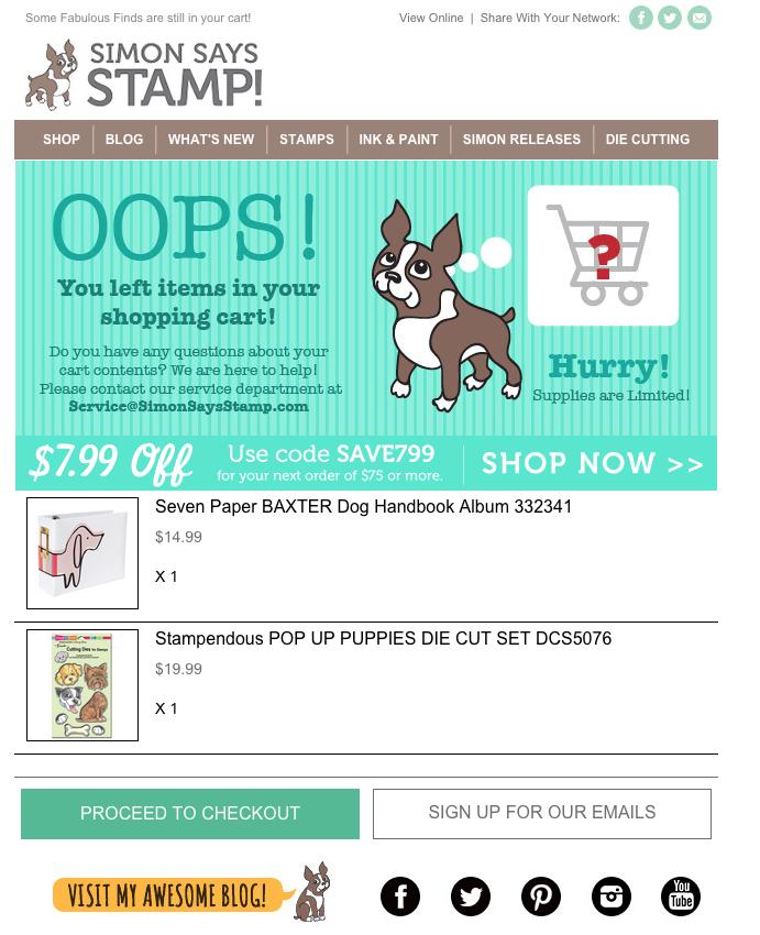 L'email di SimonSaysStamp