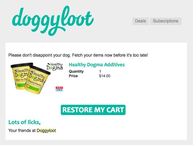 L'email di Doggyloot