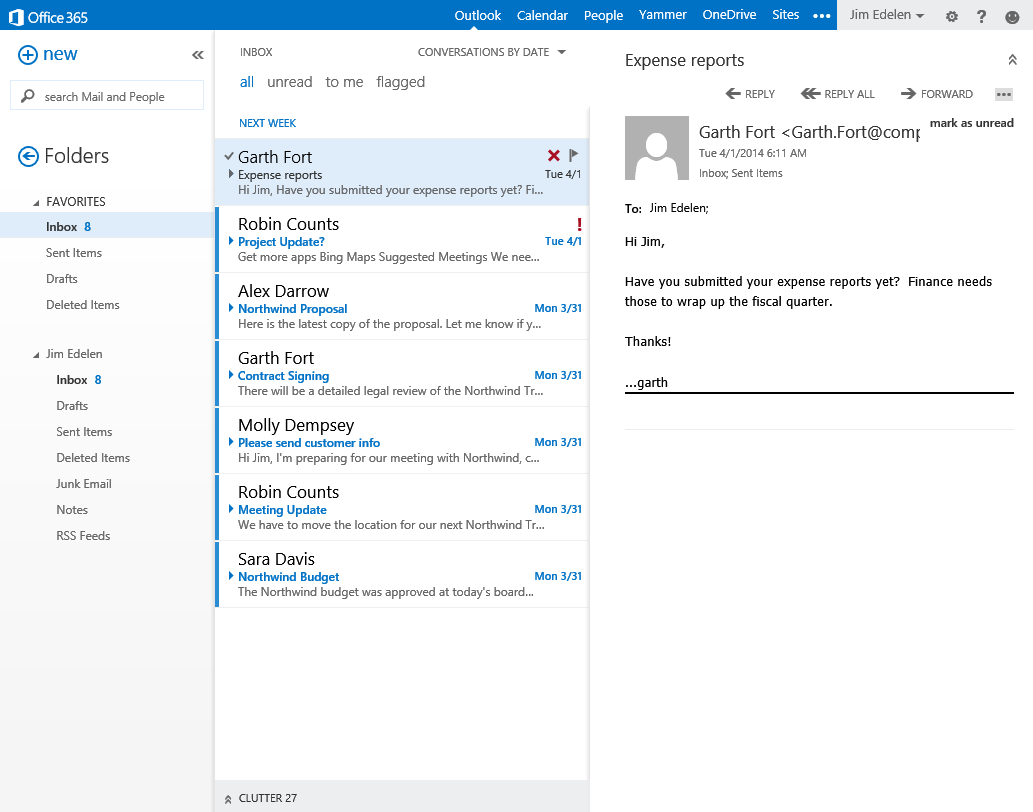 "Microsoft Outlook introduce ""clutter"" sulla scia delle Tab Gmail"
