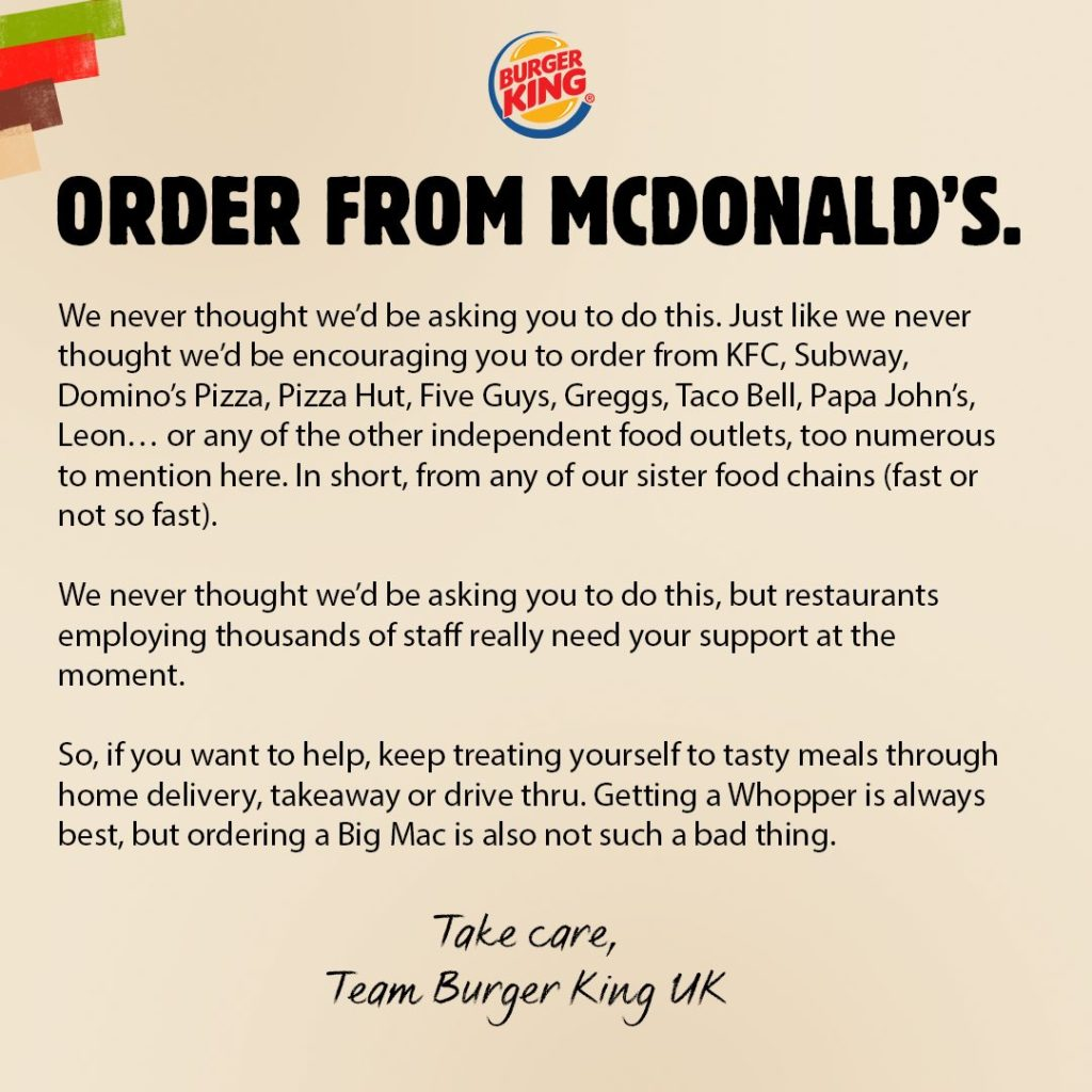 burger king order from cddonalds campaign