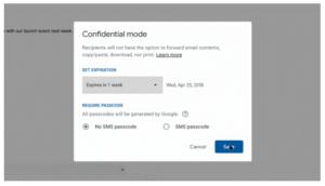 La modalità confidential di Gmail