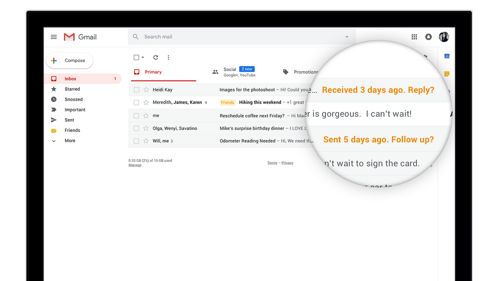 Il sistema Gmail Nudge