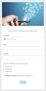 Il modello di MailUp Facebook App