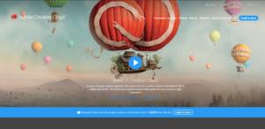 La landing page di Adobe