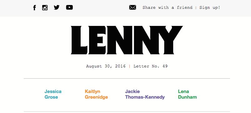 Anchor link Lenny Letter