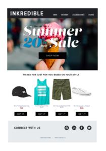 L'email di follow up di un e-commerce.