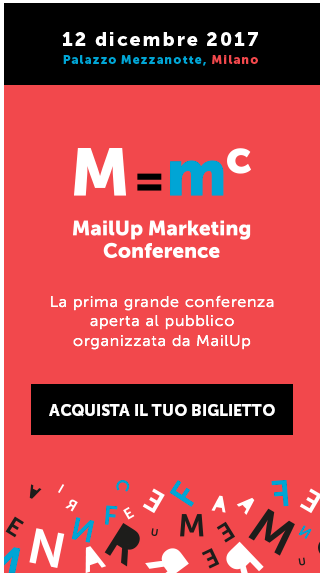 MailUp Marketing Conference - Acquista il tuo biglietto