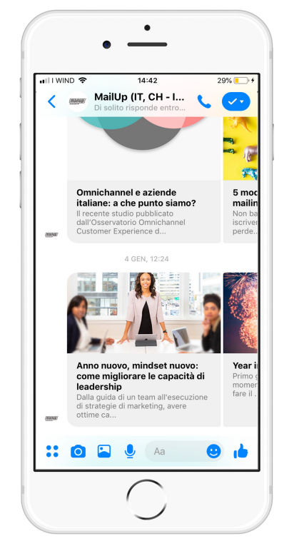 Una campagna per Messaging Apps