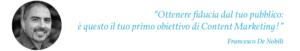 Le parole di Francesco De Nobili.