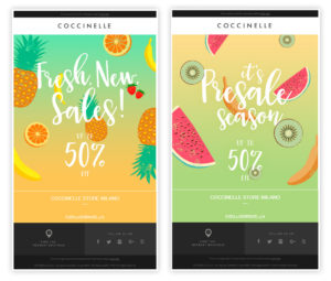 Coccinelle email estate MailUp