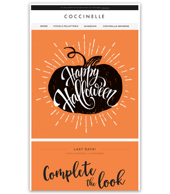 Coccinelle email Halloween
