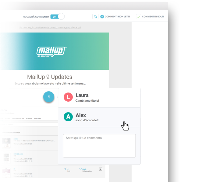 Collaboration tool MailUp 9