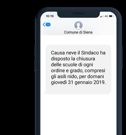 esempio sms comune di siena