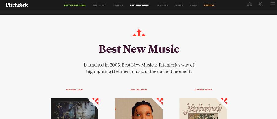 Il sito di Pitchfork