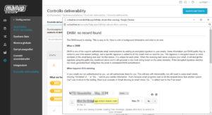 Controllo Deliverability: avviso