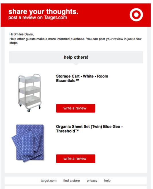 Un esempio di email per richiedere feedback