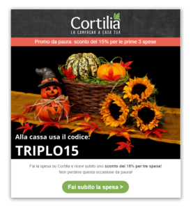 Cortilia email Halloween