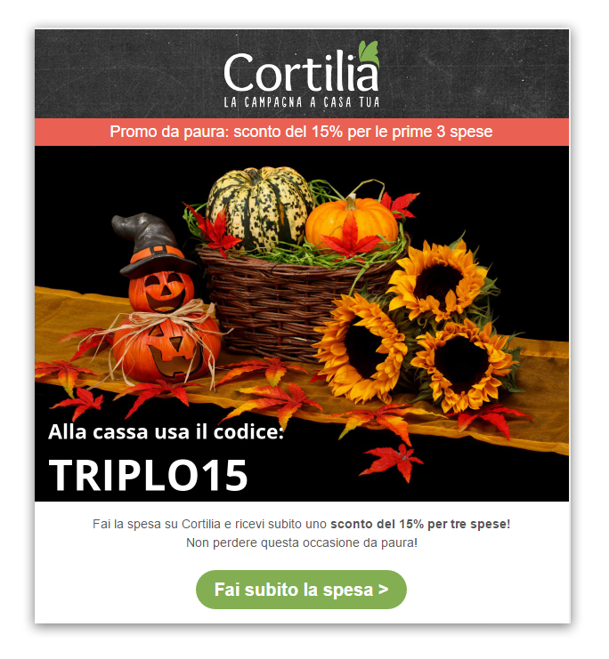 Cortilia email Halloween