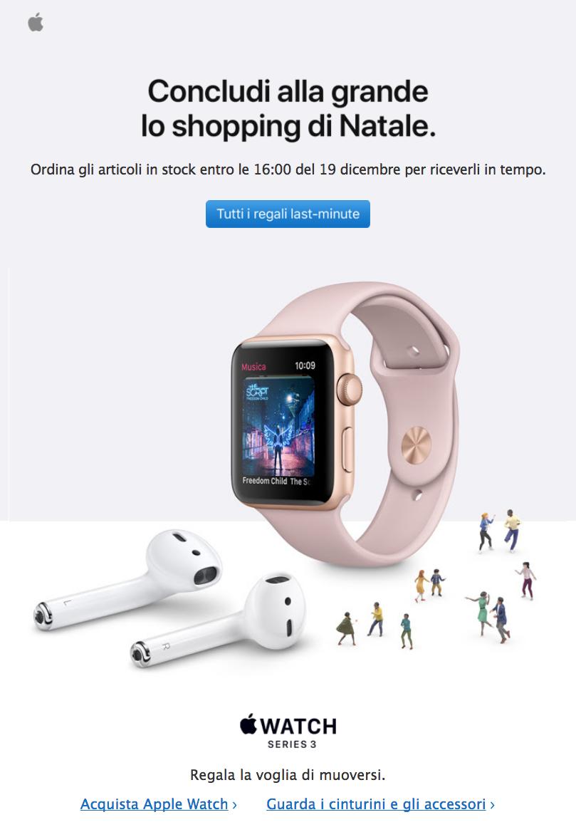 CTR - Esempio email Apple
