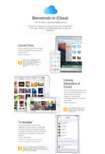 email benvenuto icloud mailup
