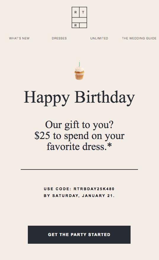 Email di buon compleanno