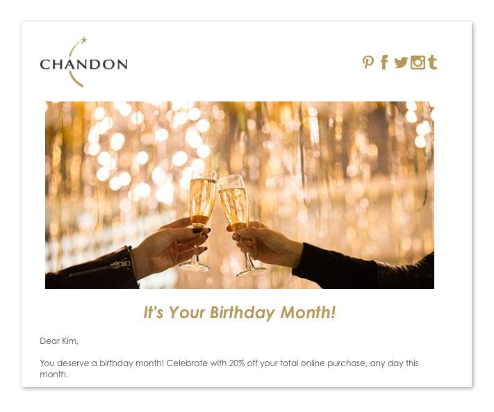 email di buon compleanno: 30 giorni prima
